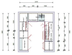 Kitchen Design Plan View